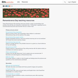 Remembrance Day teaching resources - HTML Content