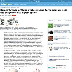 Remembrance of things future: Long-term memory sets the stage for visual perception