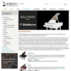 Authentic Baldwin pianos