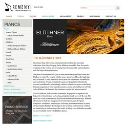 Buy authentic and genuine Blunther Pianos