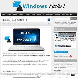 Remettre à zéro un PC Windows 10