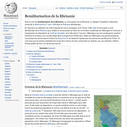Remilitarisation de la Rhénanie