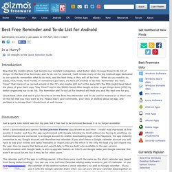 Best Free Reminder and To-do List for Android