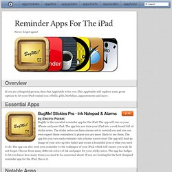 Reminder Apps For The iPad: iPad/iPhone Apps AppGuide
