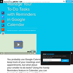 Manage Your To-Do Tasks with Reminders in Google Calendar - BetterCloud Monitor