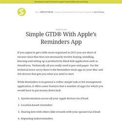 Simple GTD® with Apple's Reminders App
