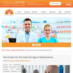 Reminders for the Safe Storage of Medications