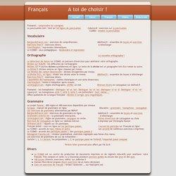 Remise à niveau - Français