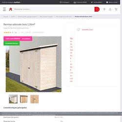 Remise adossée bois 1.36m² pas cher à prix Auchan