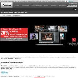 20% de remise sur Adobe Creative Cloud pour la Photo - Panasonic France