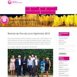 Remise du Prix du Livre Optimiste 2015