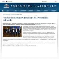 Remise rapport - Numérique