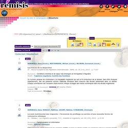 REMISIS - Base de données bibliograpique