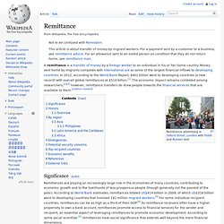 wikipedia: Remittance
