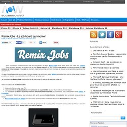 RemixJobs - Le job board qui monte !