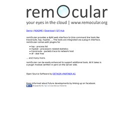 remOcular - your eyes in the cloud