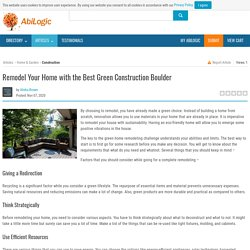 Remodel Your Home with the Best Green Construction Boulder