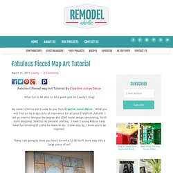 Fabulous Pieced Map Art Tutorial
