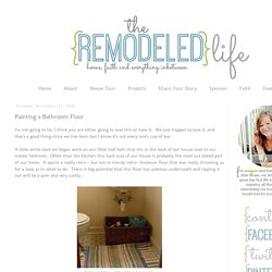 The Remodeled Life: Painting a Bathroom Floor