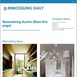 Find the best remodeling contractor in Austin Texas