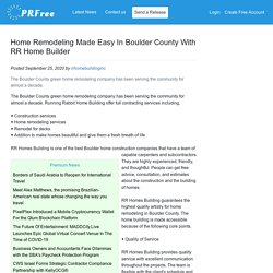 Home Remodeling Made Easy In Boulder County With RR Home Builder