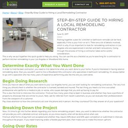 Step-By-Step Guide to Hiring a Local Remodeling Contractor - Greenworks Construction and Design Inc.
