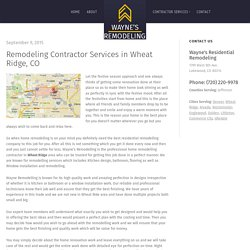 Design & Remodeling Contractor Services Wheat Ridge, CO (Colorado)