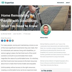 Home Remodeling for People with Disabilities