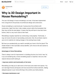 Why is 3D Design Important in House Remodeling?