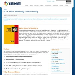 NCLE Report: Remodeling Literacy Learning