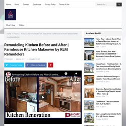 Farmhouse Kitchen Makeover by KLM Remodelers