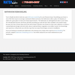 Remodeling Services Katy, Texas