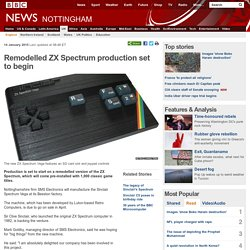 Remodelled ZX Spectrum production set to begin