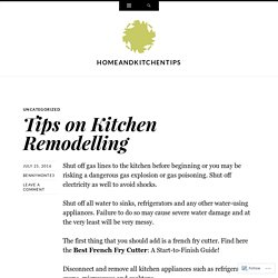 Tips on Kitchen Remodelling