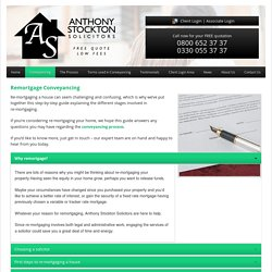 Expert Advice on Remortgage Property Conveyancing
