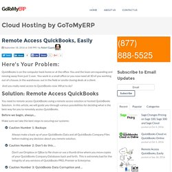 Remote Access QuickBooks, Easily