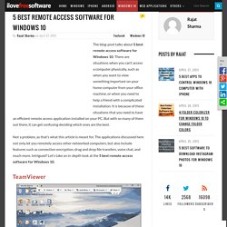 5 Best Remote Access Software For Windows 10