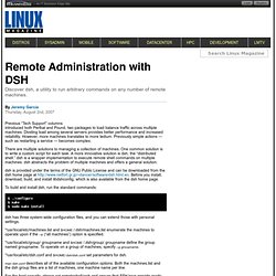 Remote Administration with DSH