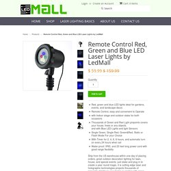 Remote Control Red, Green and Blue LED Laser Lights by LedMall - Laser Lights