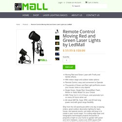 Remote Control Moving Red and Green Laser Lights by LedMall - Laser Lights