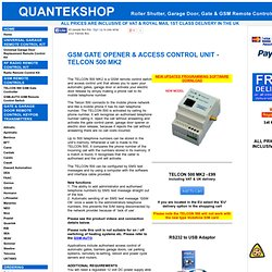 GSM Remote Control, GSM Gate Opener, GSM Gate Controller, Telcon
