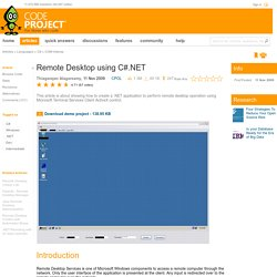 Remote Desktop using C#.NET