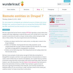 Remote entities in Drupal 7