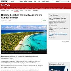 Remote beach in Indian Ocean ranked Australia's best