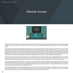 Remote Internet Access