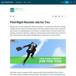 Find Right Remote Job for You: kylaaquino — LiveJournal