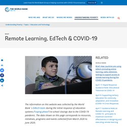 Remote Learning, EdTech & COVID-19