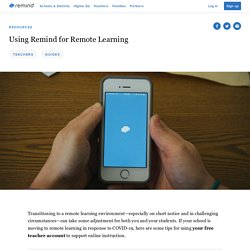 Remote Learning Guide