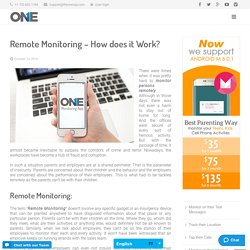 Remote Monitoring – How does it Work?