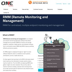RMM (Remote Monitoring and Management)